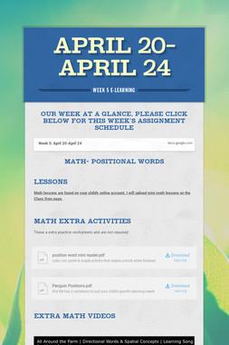 April 20-April 24