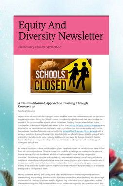 Equity And Diversity Newsletter