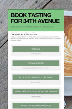 BOOK TASTING FOR 34TH AVENUE