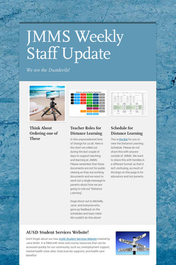 JMMS Weekly Staff Update