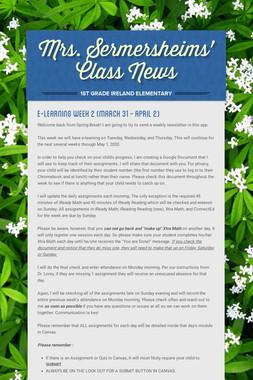 Mrs. Sermersheims' Class News