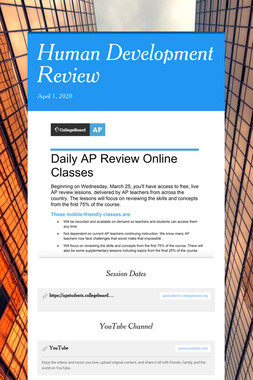 Human Development Review