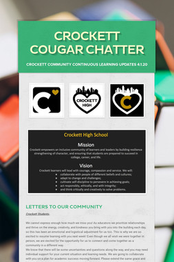 Crockett Cougar Chatter