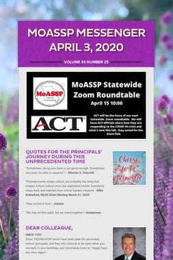 MoASSP Messenger April 3, 2020