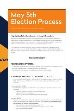 May 5th Election Process