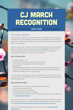 CJ March Recognition