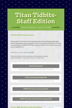 Titan Tidbits-Staff Edition