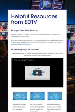 Helpful Resources from EDTV