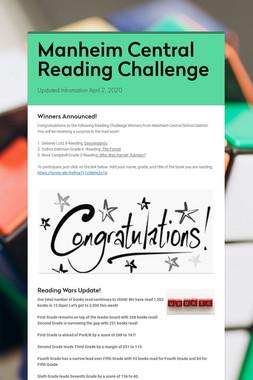 Manheim Central Reading Challenge