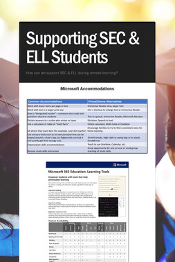 Supporting SEC & ELL Students