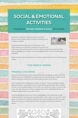Social & Emotional Activities