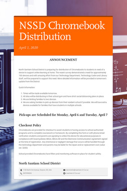 NSSD Chromebook Distribution