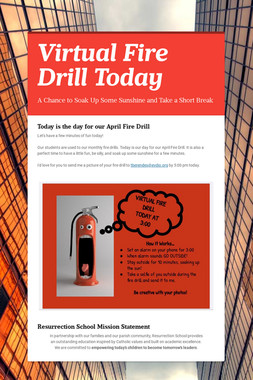 Virtual Fire Drill Today