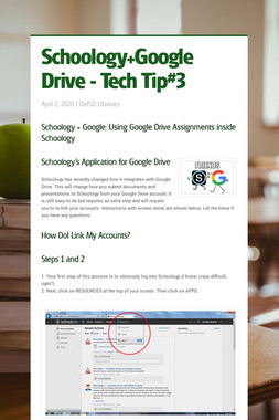 Schoology+Google Drive - Tech Tip#3