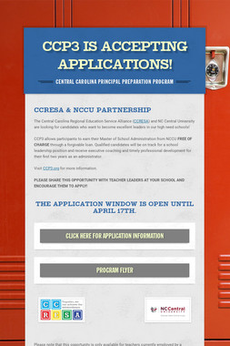 CCP3 is Accepting Applications!