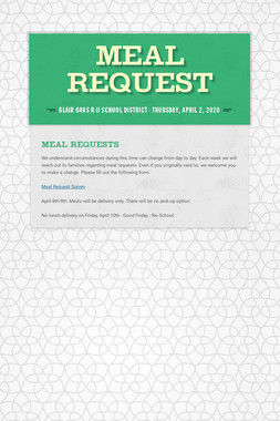 Meal Request