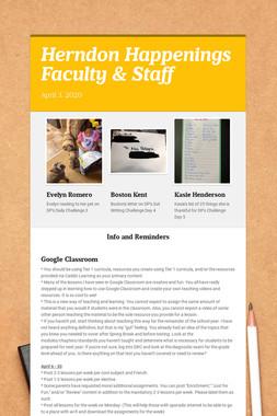 Herndon Happenings Faculty & Staff