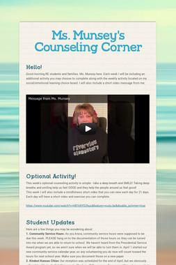Ms. Munsey's Counseling Corner