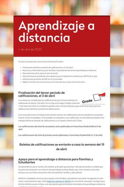 Aprendizaje a distancia
