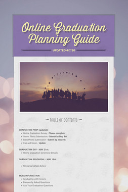 Online Graduation Planning Guide