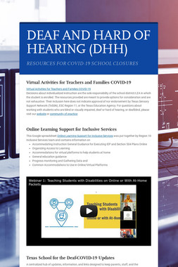 DEAF AND HARD OF HEARING (DHH)