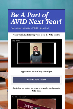Be A Part of AVID Next Year!