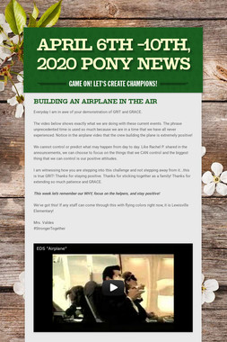 April 6th -10th, 2020 Pony News
