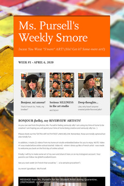 Ms. Pursell's Weekly Smore