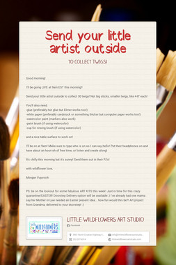 Send your little artist outside