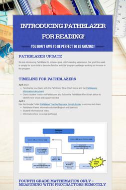 Introducing PATHBLAZER for Reading!