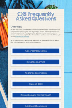 CHS Frequently Asked Questions
