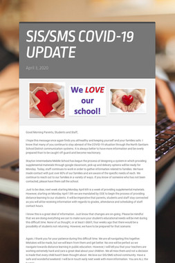 SIS/SMS COVID-19 UPDATE