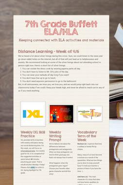 7th Grade Buffett ELA/HLA