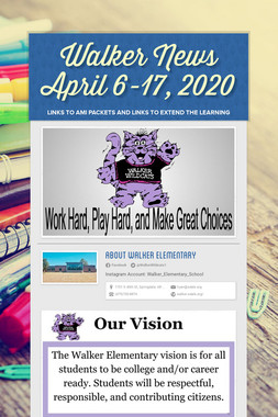 Walker News April 6-17, 2020