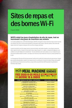 Sites de repas et des bornes Wi-Fi