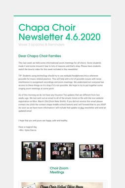 Chapa Choir Newsletter 4.6.2020