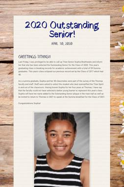 2020 Outstanding Senior!
