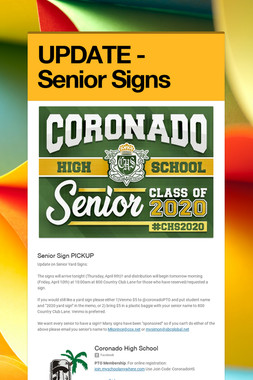 UPDATE - Senior Signs