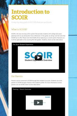 Introduction to SCOIR