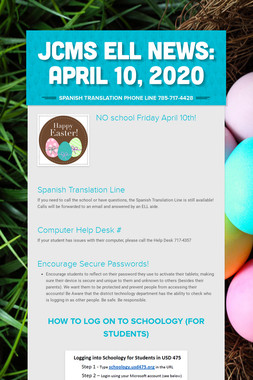 JCMS ELL News: April 10, 2020