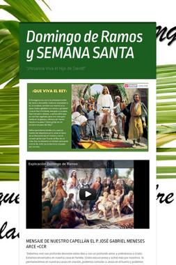 Domingo de Ramos y SEMANA SANTA