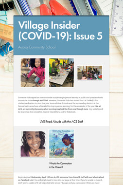 Village Insider (COVID-19): Issue 5