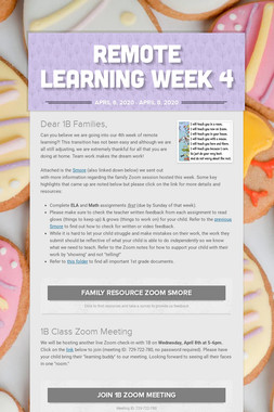 Remote Learning Week 4