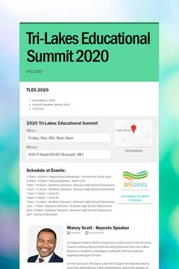 Tri-Lakes Educational Summit 2020