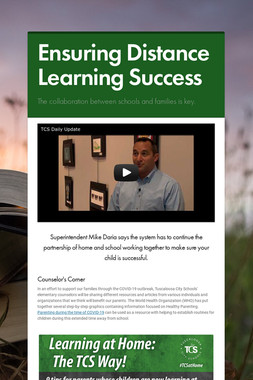 Ensuring Distance Learning Success