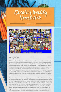 Lincoln's Weekly Newsletter