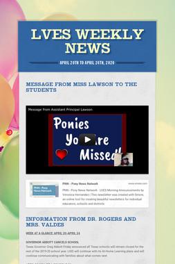 LVES Weekly News