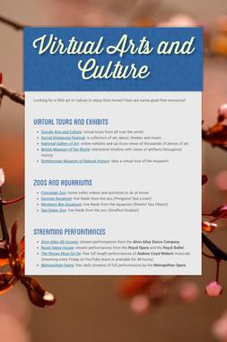 Virtual Arts and Culture