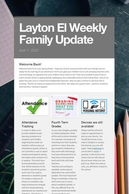 Layton El Weekly Family Update