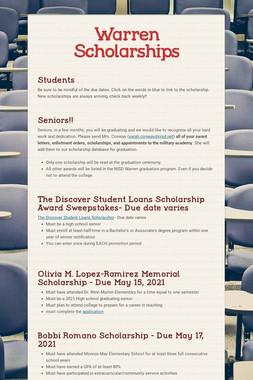 Warren Scholarships